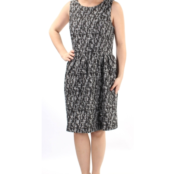 Kensie Sleeveless Dress Black and White Size Small